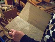 Uppslag ur orderbok från S. Ljungqvists Orgelfabrik.