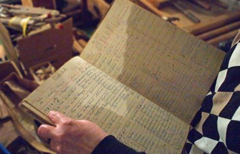 Orderbok från S. Ljungqvists Orgelfabrik.