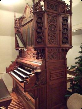 3-manualigt orgelharmonium med pedal av K.A. Andersson, Stockholm, 1890-tal. Foto: Mats Ernvik.