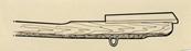 Tangent (undre bilden), tangent med ögla för bihängd pedal (övre bilden)