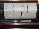 Autopiano från Steck (detalj av rullen)