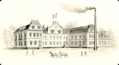 Fabriken i Åmål från 1901 (här sedd från baksidan) är framför allt känd för sina orglar. Allt från kammarorglar, salongsorglar, kapellorglar, skolorglar och spelapparater till flermanualiga pedalorglar har utgått från denna fabrik.